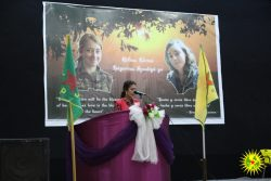 Commemoration in memory of şehid Hêlîn and şehid Legerîn